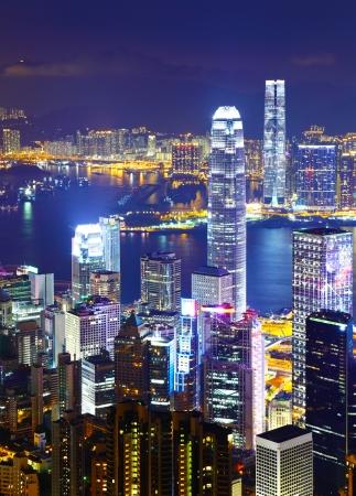 day and night: Hong Kong cityscape