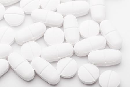the mixing: White mixing medicine Stock Photo
