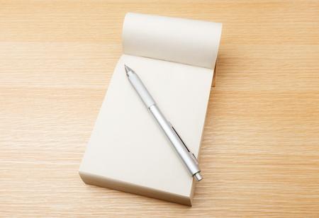 memo: Memo pad and pen