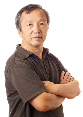 Asian old man photo