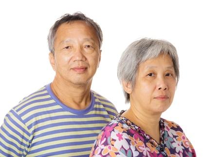 Asian elderly couple photo