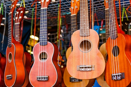 acoustic ukulele: Ukulele guitar for sell in the market