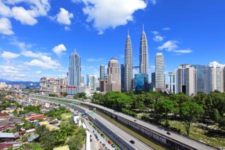 malaysia city: Kuala Lumpur skyline Stock Photo