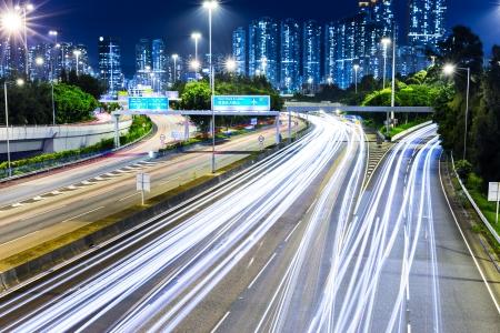 turnpike: Paisaje urbano en Hong Kong