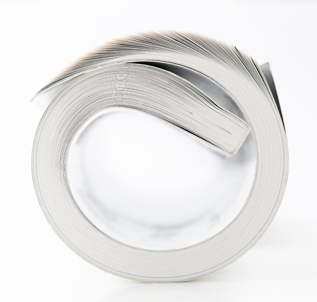 Rolled book photo