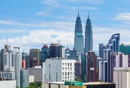 klcc: Kuala Lumpur city skyline