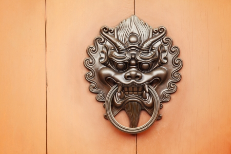 lion door knob Stock Photo - 22210487