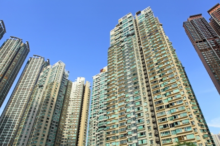 Hong Kong residential buildings Stock Photo - 22265466