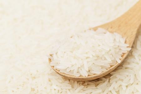 teaspoon: White rice on teaspoon