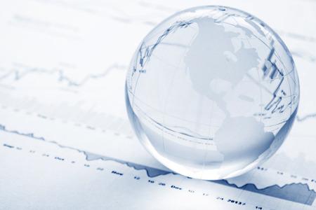 グローバル投資の概念 写真素材