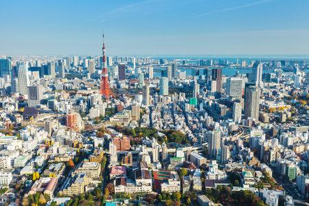 tokyo tower: Tokyo skyline in Japan
