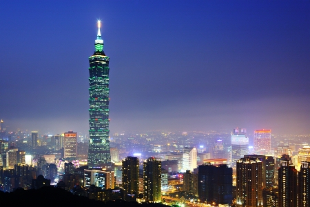 Taipei citsyscape at night