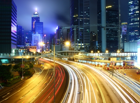 Busy traffic in Hong Kong photo