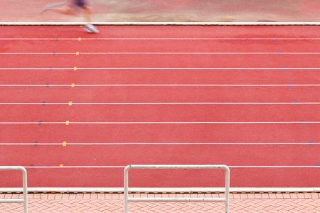 sportman: Athlete on running way