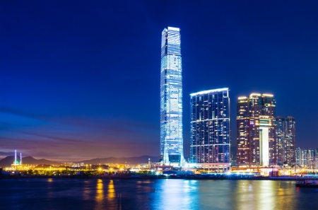 Kowloon skyline in Hong Kong Editorial