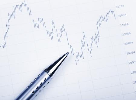 fluctuate: Stock exchange market chart Stock Photo