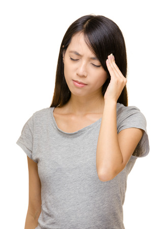 Asian woman have seriously headache photo