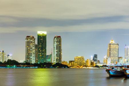 bangkok city: Bangkok city skyline at night