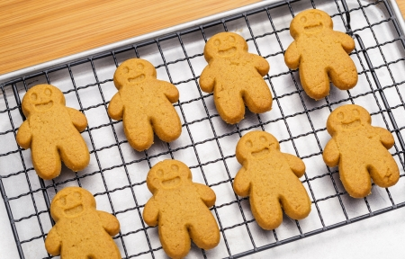 gingerbread cookies: Baked gingerbread cookies Stock Photo