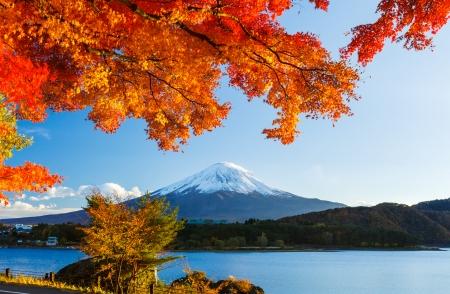 Monte Fuji en otoño Foto de archivo
