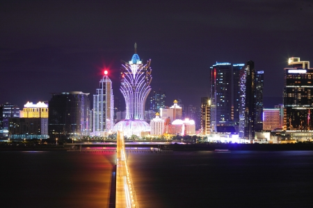 Macau at night Editorial