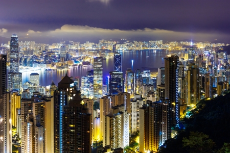Hong Kong skyline from the peak photo