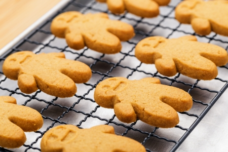 Homemade gingerbread cookies photo