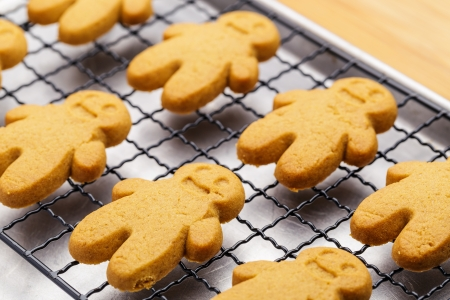 Baked gingerbread cookies photo