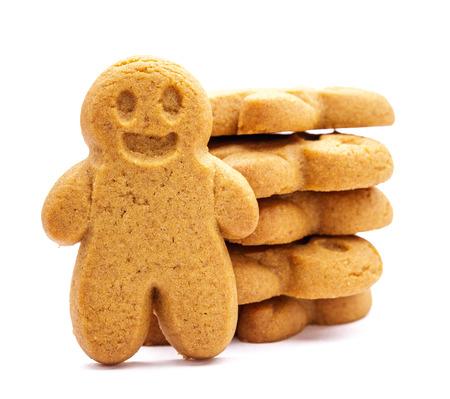 galletas: Pila de galletas de pan de jengibre