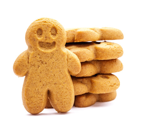 gingerbread man: Stack of Gingerbread cookies Stock Photo