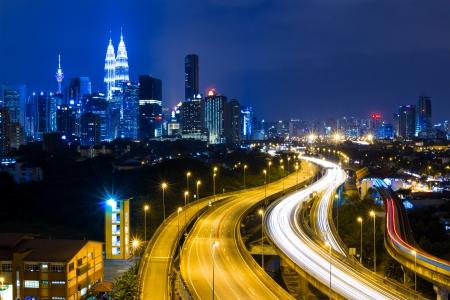 Kuala Lumpur city at night photo