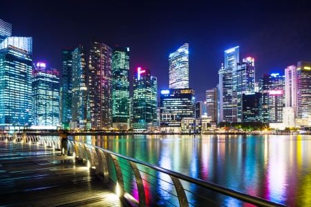 Urban cityscape in Singapore  photo