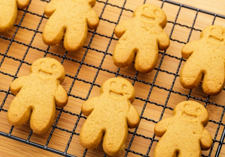 Gingerbread cookies close up photo