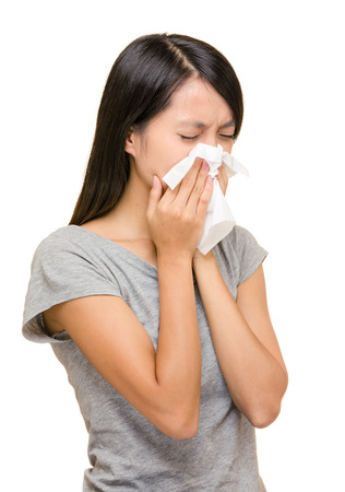 Asian woman nose allergic Stock Photo - 22817855