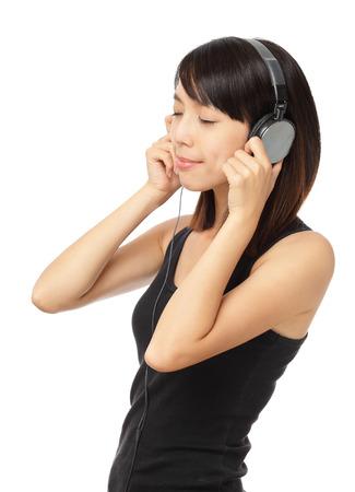 sone: Asian woman enjoy the music