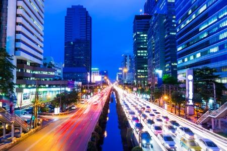 Bangkok with traffic jam Stock Photo