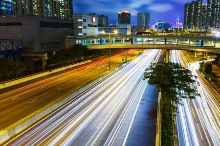 schlagbaum: Busy traffic at night