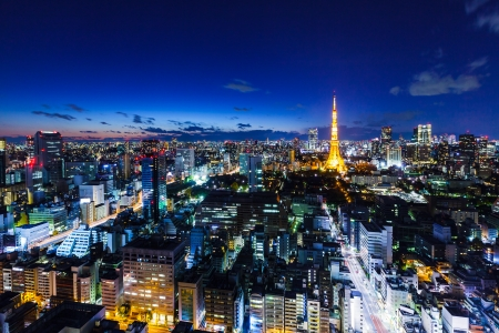 night view: Tokyo skyline at night