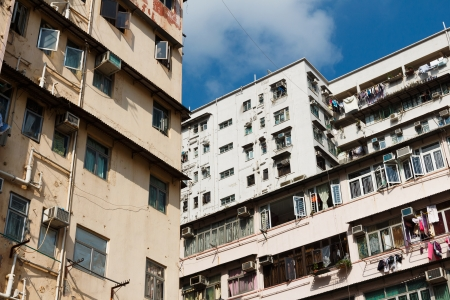 overpopulated: Overpopulated residential building in Hong Kong
