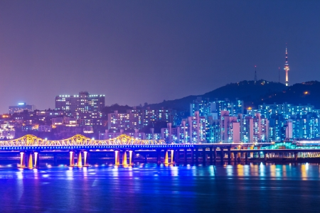 Seoul cityscape in South Korea photo