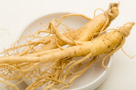 Korean fresh ginseng Stock Photo