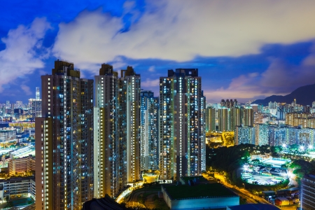 overpopulated: Cityscape in Hong Kong