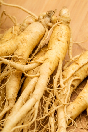Fresh Ginseng close up
