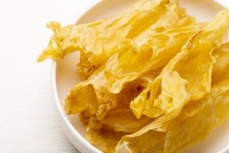 maw: Chinese dried fish maw close up