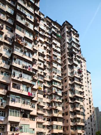Old residential building in Hong Kong Stock Photo - 24075224