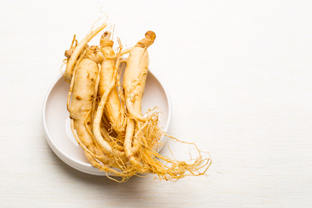 ginseng: Fresh Ginseng sticks Stock Photo