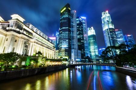 Singapore at night photo
