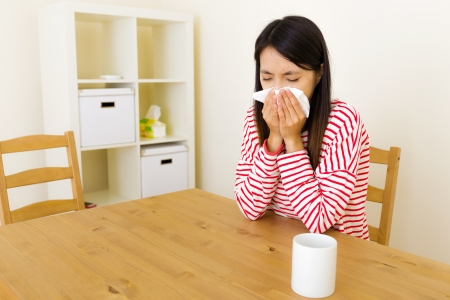 Asian woman with nose allergy Stock Photo - 24170353