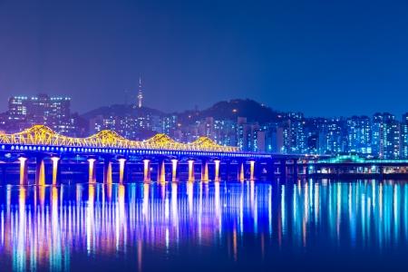 schlagbaum: Stadt Seoul in Südkorea