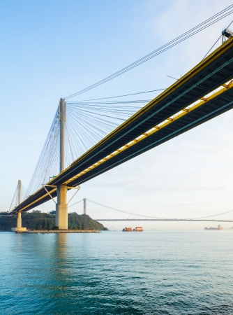 turnpike: Suspension bridge in Hong Kong